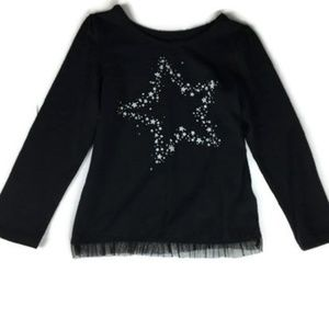 Okie Dokie Girls Size 5T Long Sleeve Black Shirt